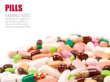 Pills background Royalty Free Stock Image
