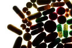 Pills With Backlight. Photo Pills With Backlight - Medical Concept Stock Photography
