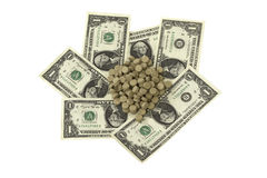 Pills on banknotes Royalty Free Stock Photo
