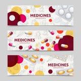 Pills Banner Set Stock Photo