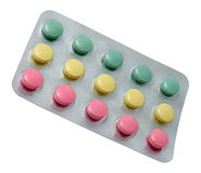 Pills in blister Royalty Free Stock Photos
