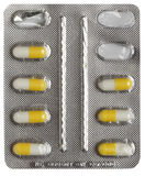 Pills in blister Royalty Free Stock Images
