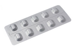 Pills in a blister pack Royalty Free Stock Image