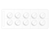 Pills. Blister pack of pills isolated on white background Stock Image