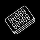 Pills blister pack vector icon. Eps 10 Stock Photo
