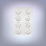 Pills in a blister pack. Royalty Free Stock Photo