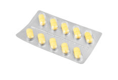 Pills in blister package Stock Image