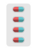 Pills blister package isolated Royalty Free Stock Image
