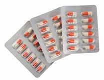 Pills in blister packs Stock Images