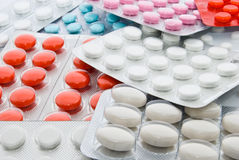 Pills in blisters Royalty Free Stock Images