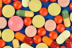 Pills on Blue Stock Photography
