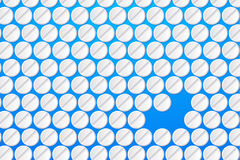 Pills on blue Royalty Free Stock Images