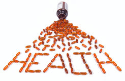 Pills in bottle Royalty Free Stock Photography