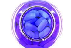 Pills in a bottle Royalty Free Stock Photos