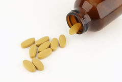 Pills and bottle Royalty Free Stock Photo