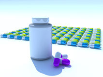 Pills Bottle Royalty Free Stock Image