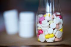 Pills in bottle. Stock Photo