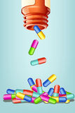 Pills with bottle Royalty Free Stock Photo