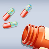Pills and bottle Royalty Free Stock Photography