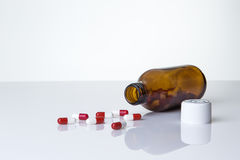 Pills bottle and pills Royalty Free Stock Images
