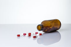 Pills bottle and pills Royalty Free Stock Photo