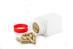 Pills and bottle Royalty Free Stock Photos
