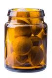 Pills on bottle Stock Photo