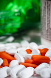 Pills and bottles Royalty Free Stock Image
