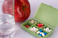 Pills box Royalty Free Stock Photos
