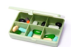 Pills box - Medical prescription Royalty Free Stock Photos
