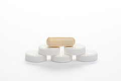 Pills and capsule, isolated Stock Photography