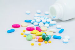 Pills and capsule Stock Photo