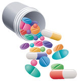 Pills and capsules Stock Photo