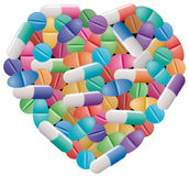 Pills and capsules Royalty Free Stock Photo