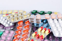 Pills and capsules Stock Images