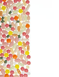 Pills and capsules background Royalty Free Stock Photo