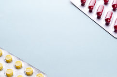 Pills and capsules in a Blister Royalty Free Stock Photography