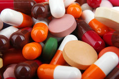 Pills and capsules Royalty Free Stock Images