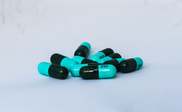Pills and capsules drug Royalty Free Stock Image
