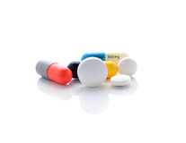 Pills and capsules Stock Photography