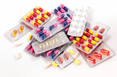 Pills and capsules Stock Photos