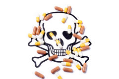Pills capsules of medicament Royalty Free Stock Photo