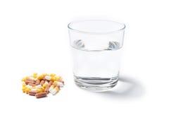 Pills capsules of medicament Stock Photo