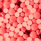 Pills and capsules. Photo of many pills and capsules Stock Photography