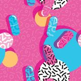Pills and capsules seamless pattern, pop modern design Royalty Free Stock Photos