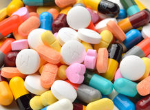 Pills and capsules Royalty Free Stock Photos