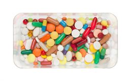 Pills, capsules and tablets Royalty Free Stock Images