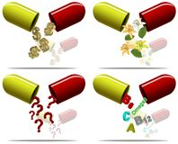 Pills content Royalty Free Stock Photo