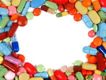 Pills with copyspace Royalty Free Stock Images