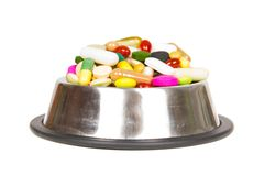 Pills in a cup Royalty Free Stock Photo